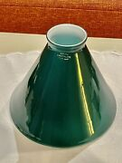 Antique Emeralite Cased Glass Cone Shaped Green Lamp Shade Marked Austria Nwot