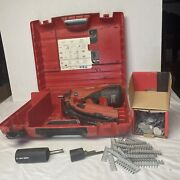 Hilti Gx 120 Fully Auto Gas-actuated Fastening Tool With 380 Pins And Washers