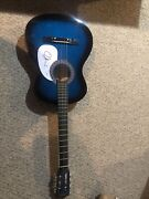 """Emmylou Harris Country Star Signed Autograph 38"""" Acoustic Guitar Psa Coa Grammy"""