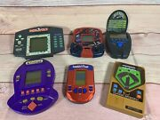 Vintage Handheld Electronic Games- Lot Of 6 - All Tested/all Work With Sound