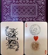 1905 Historic 53+j Antique Playing Cards Uk Export De La Rue And Italian Tax Stamp