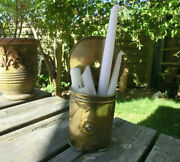Antique 18th Century Brass Wall Hanging Taper Candle Box