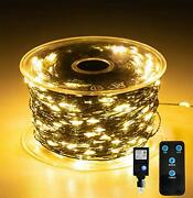 1000 Led Fairy Lights With Remote - 328ft Outdoor Long Christmas String Light...