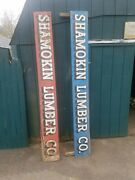 1930/40and039s Wooden Shamokin Pa. Lumber Company Signs From State Body Truck