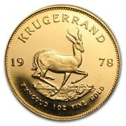 South African Krugerrand 1 Oz Gold Coin 1978