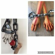 Halloween Life Size Hanging Chained Severed Hand And Foot And Latex Hands Props New