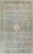 Antique Floral Oriental Traditional Area Rug Evenly Low Pile Wool Handmade 9x13