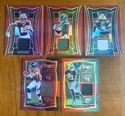 2020 Select Rookie Fabric/draft Day Patch Lot. Mims Ruggs Higgins Jeudy Dillon