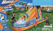 New Banzai Pipeline Inflatable Water Park Slide Play Pool Wall Climb And Blower