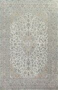 Semi-antique Floral Traditional Oriental Area Rug Wool Hand-knotted Carpet 9x12