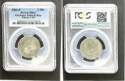 2 Dm Currency Coin Max Planck 1961 F Proof Edition Only 46ex. Pcgs Pr67
