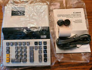 Circa 70's Canon Electronic Calculator Cp1213d 2 Color Print-new In Box-opened