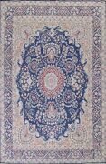 Semi-antique Floral Traditional Oriental Area Rug Wool Hand-knotted 9x12 Carpet