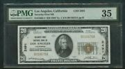 1929 Security-first National Bank Of Los Angeles California 20 Ch2491 Pmg 35