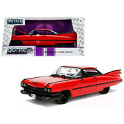 1959 Cadillac Coupe Deville Red 1/24 Diecast Model Car By Jada 99990