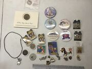 31 Disney Pins Buttons Charms Mini Mickey Mouse Coins Necklaces Dream 1992 Toy