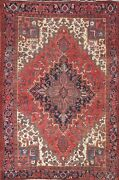 Vintage Geometric Oriental Traditional Area Rug Wool Hand-knotted Carpet 8x11 Ft