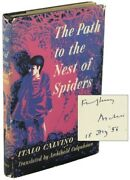 Italo Calvino / The Path To The Nest Of Spiders Signed 1st Edition 1956
