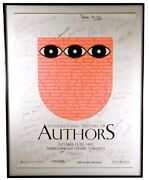 1993 International Festival Of Authors Promotional Poster / Signed