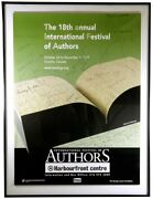 1997 International Festival Of Authors Promotional Poster / Signed