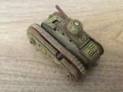 Tinplate Toy Gama T56 Tank D.r.g.m. 1950's Made In Germany - Used - Rusty