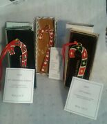 3 Wallace Cane Ornaments, Trees-2010, Goose-1991, North Star-2007. Ugc