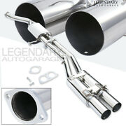 For 1989-1994 Nissan 240sx S13 3.5 Dual Tips Stainless Steel Catback Exhaust