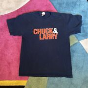 Vintage 2000s Chuck And Larry Adam Sandler Comedy Movie Promo Navy T Shirt 2007