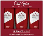 Old Spice Ultimate 4-in-1 Swagger Body Hair Face And Beard Wash 24 Fl Oz 3-pack