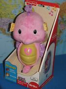 Fisher Price Soothe And Glow Pink Seahorse Ocean Sounds Brand New