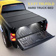 5.5ft Hard Tonneau Cover For 2004-08 Ford F150 Short Bed 3-fold 14mm Thickness