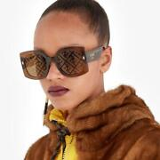 Fendi Clear Brown Acetate Sunglasses Current Product This Season