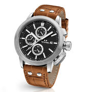 New Tw Steel Ceo Adesso Ce7003 Black Dial Brown Strap 45mm