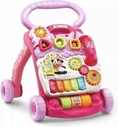 New Nib Vtech Sit To Stand Learning Walker - Pink Girls Baby Toddler
