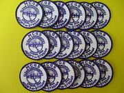 18 New Girl Scout Fun Patches Adopt-a-stream Purple And White 2 3/4