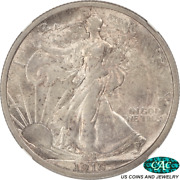 1916 Walking Liberty Half Dollar Ngc Ms62 Cac1st Year Of Issue Original Surfaces