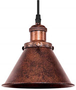 Oyipro Rustic Pendant Light Industial Single Light Antique Copper Finished With
