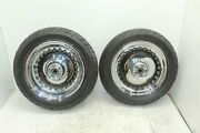 07-14 Harley Davidson Fatboy Chrome Wheel Set With Tires Outright 17 In