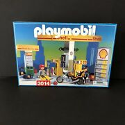 Playmobil 3014 Shell Racing Gas Station New Old Stock Boxed