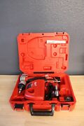 Milwaukee Propex Expansion Tool Kit W/ 3 Heads 1 3/4 And 1/2 2474-22 Used