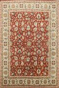 Floral Sultanabad Vegetable Dye Oriental Area Rug Wool Hand-knotted Classic 8x10