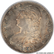 1834 Capped Bust Half Dollar Large Date Small Letters Pcgs Ms63 Toning