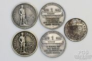 1941-45 Us Treasury Medals 5 Asst Incl Silver 1966 Pearl Harbor Wwi Wwii 20147