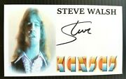 Kansas Steve Walsh Dust In The Wind Autographed 3x5 Index Card Creased