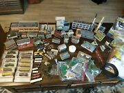 N Scale Trains And Buildings Large Lot Micro Trees Cars