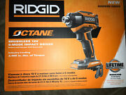 Rigid Brushless 6-mode Impact Driver  R86039b Tool Only