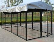 Magbean Heavy Duty Chicken Run Welded Steel 4and039 W X 8and039 L X 4and039 H New