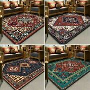 Ethnic Style Printed Home Carpets Rug Crystal Thicken Antiskid Floor Mat
