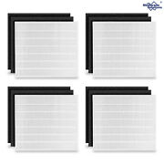 True Hepa Replacement Filter For Coway Ap1512hh Air Purifier + 8 Carbon Filters