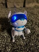 2016 Tekno Newborns Electronic Robotic Pet Interactive Puppy White And Blue